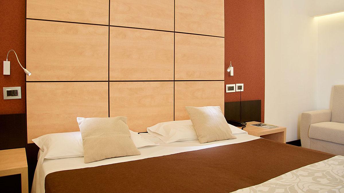 Guest room of the Hotel Cimarosa, Naples Italy (Vomero)