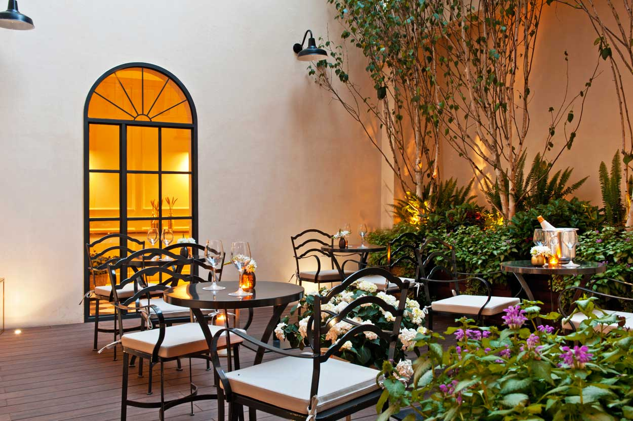 The Fifteen Keys Boutique hotel in Rome : Courtyard