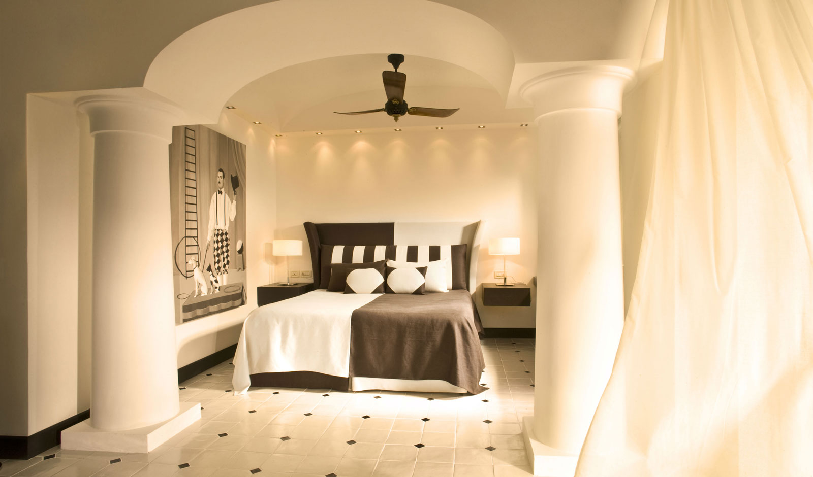Guest room of the Capri Palace hotel, Anacapri